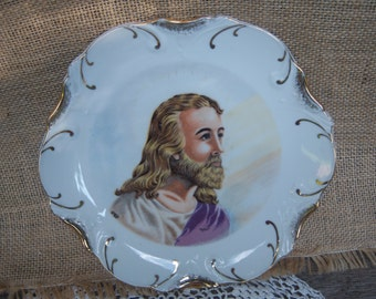 Jesus Decorative Plate, Dee Bee Plate, Christ Plate