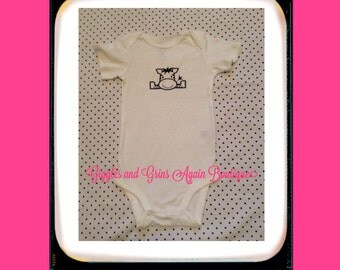 Little Zebra Embroidered Girls Body Suit or Tee Shirt - 6 to 24 months Bodysuit - 2 to 4 Tee Shirt