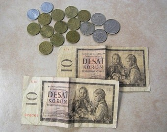 Czechoslovakian Money, Coins, Collectible Money Coins from Czechoslovakia, Czechoslovakian Money 1960 up to 1985