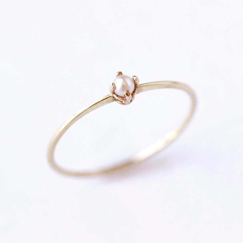Etsy Mm White Gold Ring