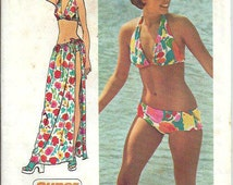 Misses Super Jiffy Bikini and Wrap and Tie SkirtPattern, Simplicity 5644, Size 8-10 UNCUT