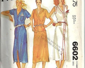 VTG McCall's 6602 Misses Dress or Top and Skirt, Carefree Pattern, Size 16-20 UNCUT
