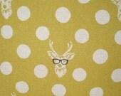 Echino Mustard Yellow Polka Dot Linen Cotton Fabric width 110cm