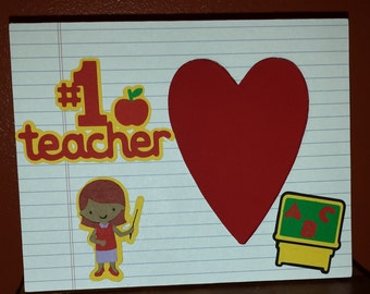 Number 1 Teacher picture frame