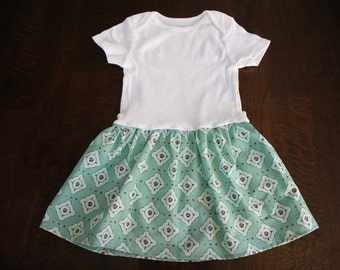 Toddler SnapDress Size 24mo - Sage Green - Ready to Ship