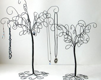 2  Wire Jewelry Tree Stands , Earring, Rings,Bracelets, Organizer, Display
