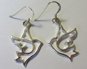Silver Doves- Sterling Silver Hooks
