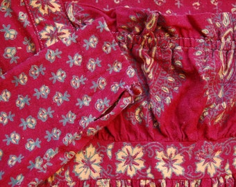 1970's India Imports long floral paisley dress