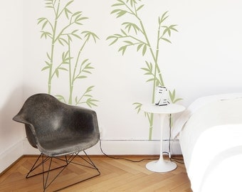 Bamboo Tree Forest Wall Decal Sticker-Bamboo Decal, Bamboo Art, Nature Wall Decal, Tree Wall Sticker, Nursery Tree Wall Decal, Bamboo Leaves