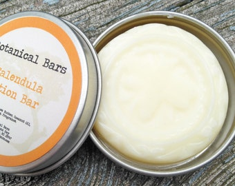 Calendula Solid Lotion Bar - 2oz Lotion Bar in Tin - Stocking Stuffers