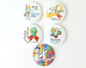 Autism Awareness Badge Reels - Interchangeable Badge Covers - Name Badge Clips - Badge Holders - Teacher Gifts - ID Badge Pull - BadgeBlooms