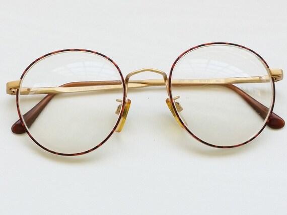 Armani Gold Frame Sunglasses : 80s GIORGIO ARMANI Over Sized Round Eyeglass Frames