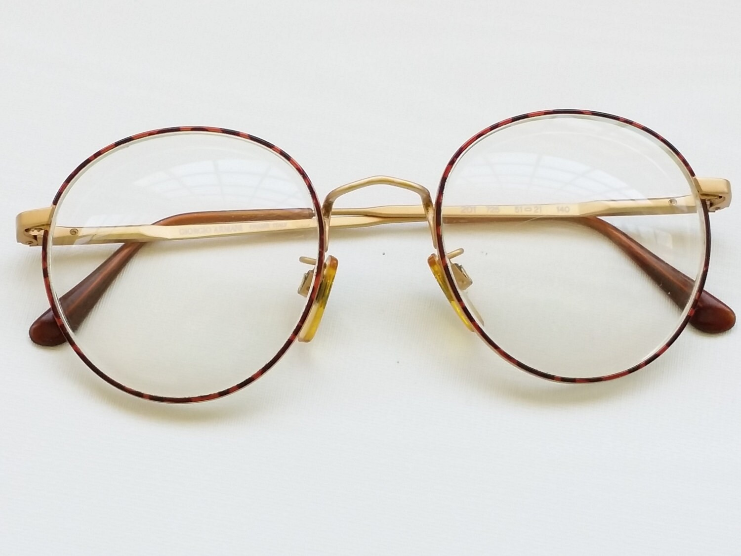 Giorgio Armani Frames For Glasses : 80s GIORGIO ARMANI Over Sized Round Eyeglass Frames