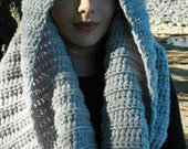 Chunky Oversized Cowl in Pale Gray, Chunky Cowl in Gray, Chunky Gray Wool Cowl, Chunky Wool Infinity Scarf, Chunky Loop Scarf