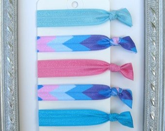 Cotton Candy Zig Zag Elastic Hair Ties~ FREE Shipping