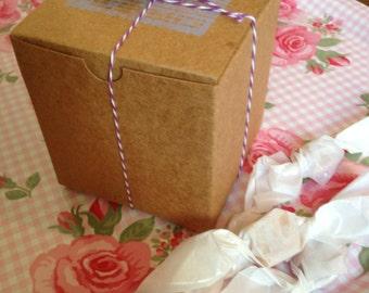 8 ounce Box of Fleur de Sel Caramels