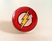 The Flash Ring - Flash Gordon - Super Heroes - Ring - The Flash - Flash Jewelry - Lightning bolt - Comic Book
