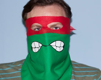 Ninja Turtle Mask.  Ninja Turtle Bandana by Adage ScreenPrinting