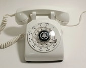 Working White Rotary Phone -  Rotary Telephone Bright White