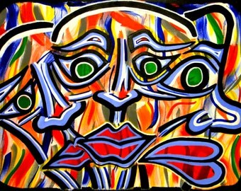 """Original Abstract Art Painting -""""Bodies"""""""