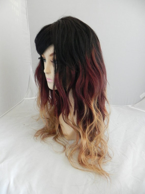 Black Auburn Blonde Ombre / Remy Human Hair / Long by ExandOh