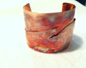 Hand Forged and Hammered Copper Cuff