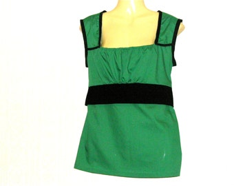 Green Top, Vest Top, Vests, Tops, Womens Top, Womens Vest, Size 10, Size 8, By Rebeccas Clothes