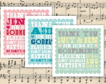 CUSTOM Godmother/Godfather/Godparent card