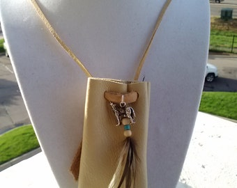 Native American Medicine Bag Necklace