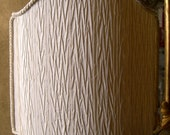 Venetian Lamp Shade Ivory Pleated Taffetas Rubelli Fabric Half Lampshade - Handmade in Italy