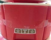 4 Retro Canister Set coffee sugar flour and tea