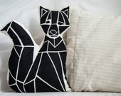 Pillow Cushion GEOFOX screen printing 32x21cm