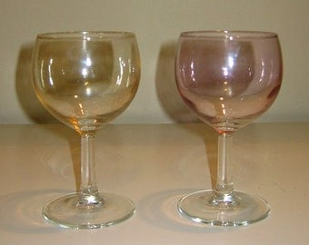 Vintage Colorful Iridescent Stemware