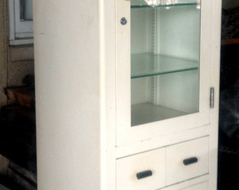 Vintage Medical Cabinet by Max Wocher & Son Co.