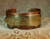 Upcycled Butter Knife Mixed Metal Cuff Bracelet