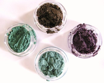 SEA BREEZE Eyecandy: 4 Color Coordinated Sample Size Mineral Eyeshadows.