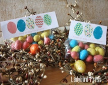 Printable Easter Treat Toppers - Instant download - Eggs - Easter - PDF