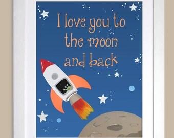 Spaceship Quote art print