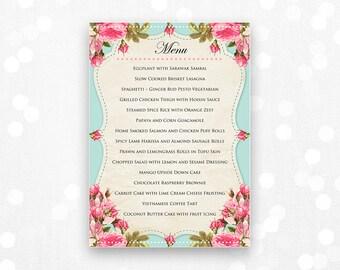 free printable menu cards