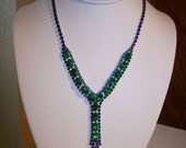 On Hold:  Painted Lady 8 Falling in Love Again Vintage Rhinestone Necklace