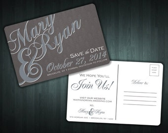 Custom Save The Date Postcards! PROFESSIONALLY Printed!