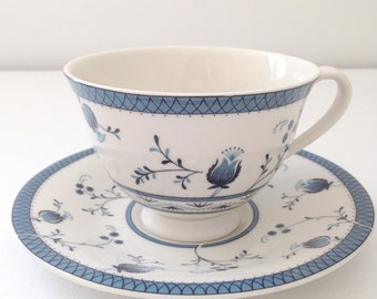 English Royal Doulton Cambridge Pattern Tea Cup and Saucer Tea Party