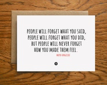 Card with Friendship Quote by Maya Angelou