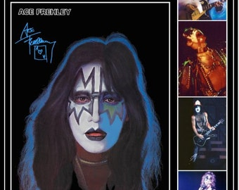 KISS Ace Frehley '77 Love Gun Tour Stand-Up Display - Collectibles Collector Collection Memorabilia Rock Band Music Army Gift Idea