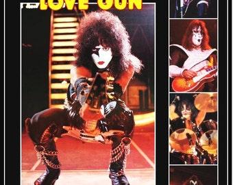 KISS Paul Stanley Love Gun 1977-78 Tour Stand-Up Display