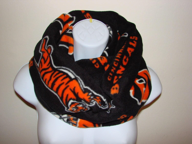 sale cinncinati bengals infinity scarf nfl orange fleece
