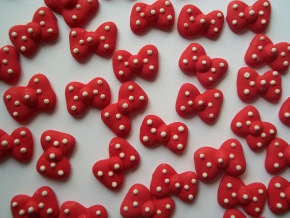 Edible Minnie Mouse Bows For Cake Pops