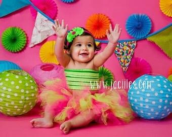 Newborn Tutu, Baby Tutu, Hot Pink Tutu, First Birthday Tutu Set, Birthday Tutu, 1st Birthday Tutu, Cake Smash Tutu, Tutu Set, Photo Prop