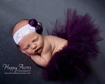 Newborn tutu set, newborn photo prop, baby tutu, baby photo prop,  plum tutu, photo prop, Baby tutu set, tutu set, photography prop, tutu