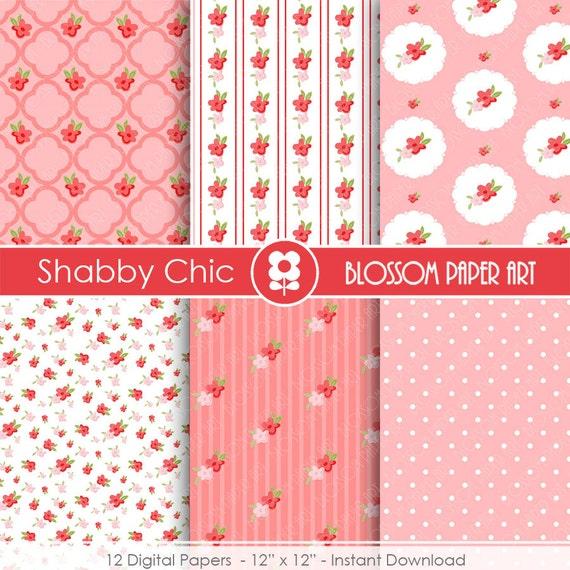 Papeles floreados papeles decorativos rosas shabby chic - Papeles decorativos para imprimir ...